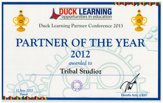 Duck Learning Partner of the Year Award 2012